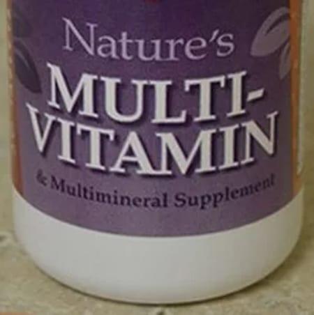 Multi vitamin bottle