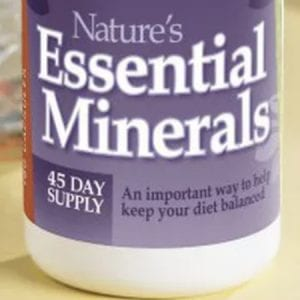 Essential minerals bottle