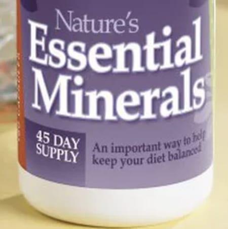 Essential minerals bottle
