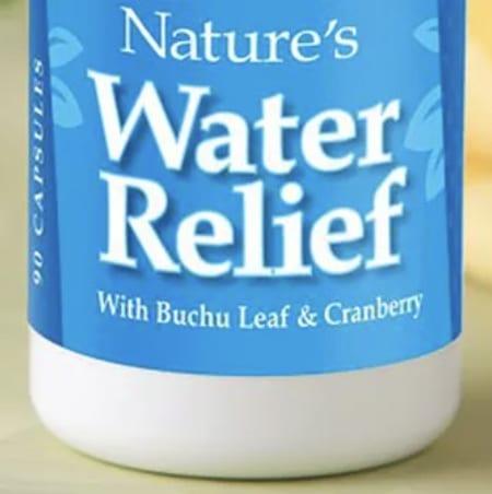 Water relief bottle